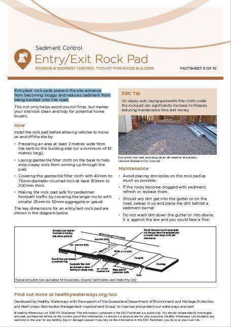 ESC Factsheet #5 Entry Exit
