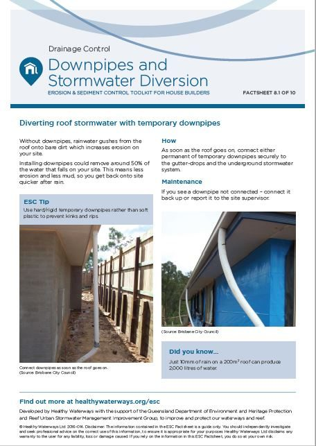 ESC Factsheet #8 Downpipes and Stormwater