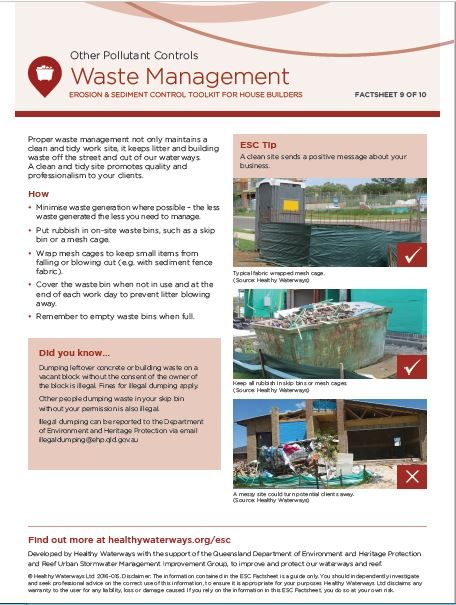 ESC Factsheet #9 Waste Management