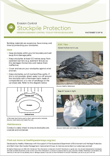ESC Factsheet #3 Stockpile Protection