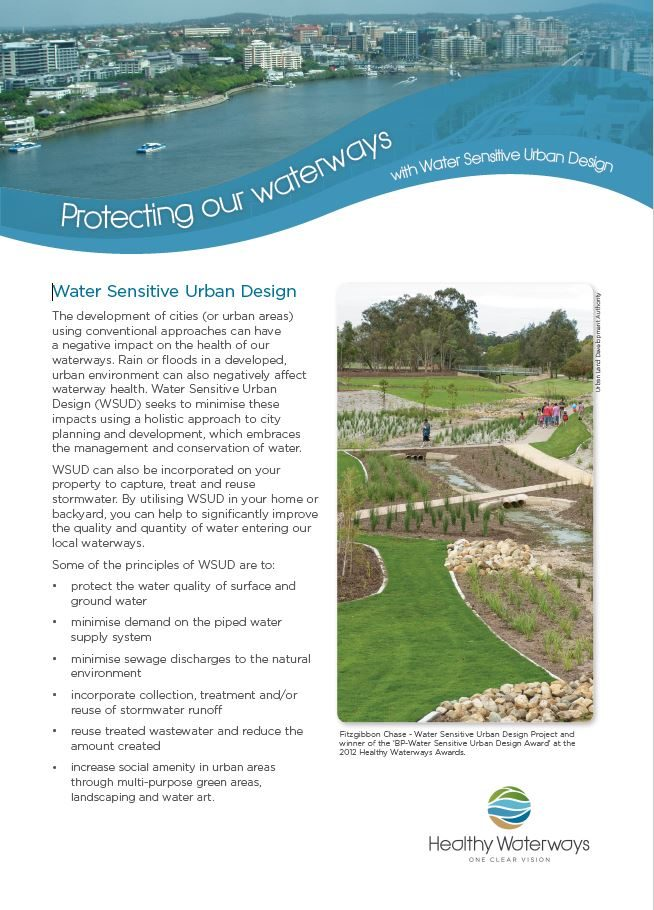 Protecting our waterways - with Water Sensitive Urban Design